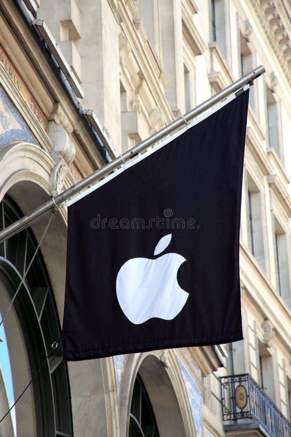 σημαία της Apple Computer στοκ εικόνα