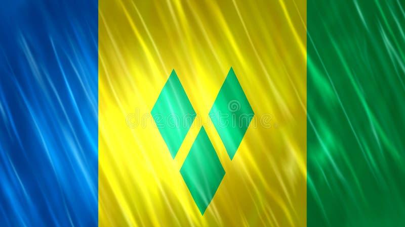 Σημαία του Άγιου Βικεντίου και Γρεναδίνες απεικόνιση αποθεμάτων