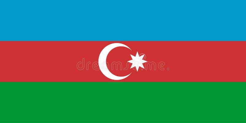 σημαία του Αζερμπαϊτζάν διανυσματική απεικόνιση