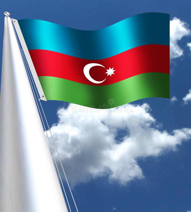 Σημαία του ΑΖΕΡΜΠΑΪΤΖΑΝ Natinal απεικόνιση αποθεμάτων