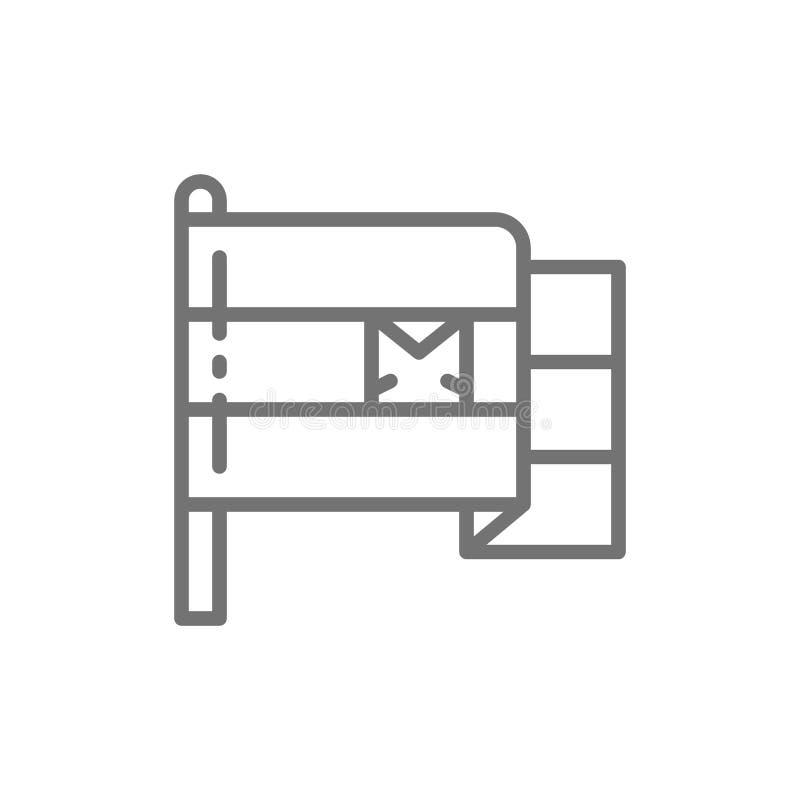 Σημαία του εικονιδίου γραμμών της Αιγύπτου ελεύθερη απεικόνιση δικαιώματος