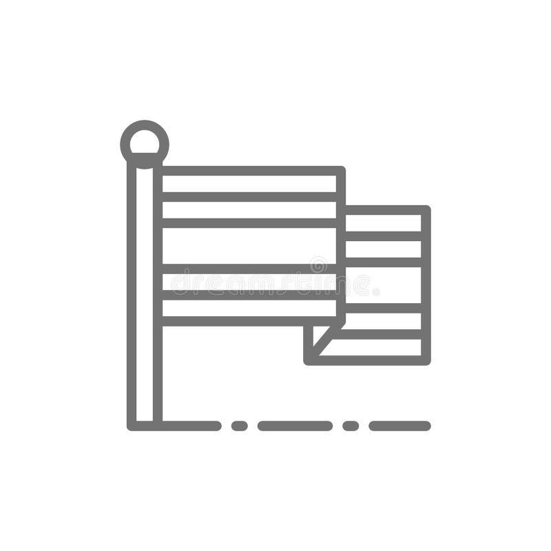 Σημαία του εικονιδίου γραμμών της Ταϊλάνδης απεικόνιση αποθεμάτων