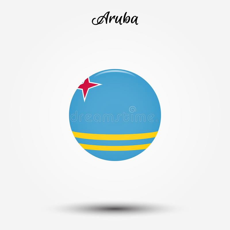Σημαία του εικονιδίου της Αρούμπα απεικόνιση αποθεμάτων