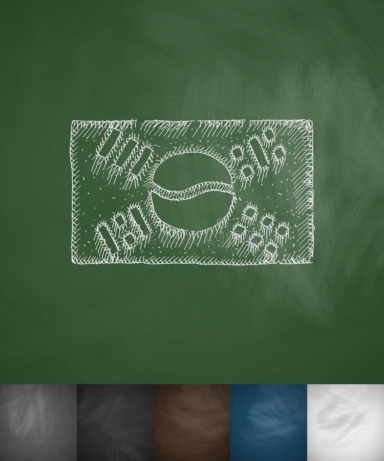 Σημαία του εικονιδίου της Νότιας Κορέας Συρμένη χέρι διανυσματική απεικόνιση διανυσματική απεικόνιση