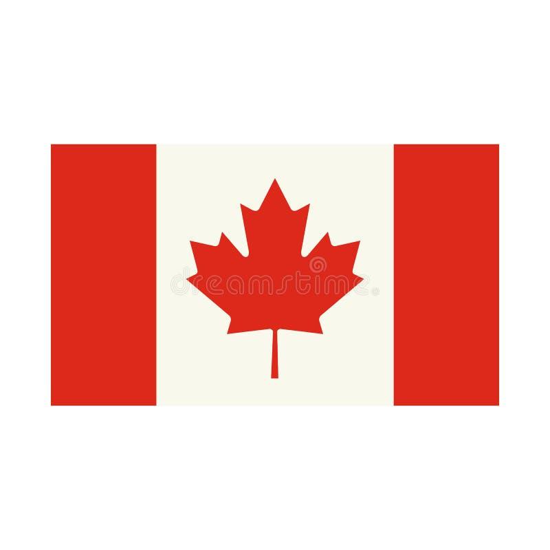 Σημαία του εικονιδίου του Καναδά, επίπεδο ύφος ελεύθερη απεικόνιση δικαιώματος