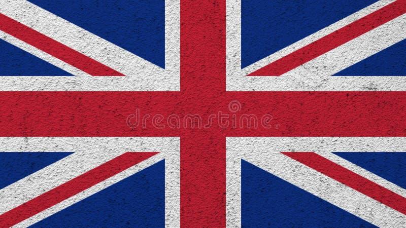 Σημαία του Ηνωμένου Βασιλείου χρωματίζω στον τοίχο στοκ εικόνες