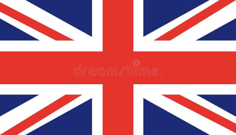 Σημαία του Ηνωμένου Βασιλείου UK Αγγλία Καθιερώνουσα τη μόδα επίπεδη διανυσματική απεικόνιση της Μεγάλης Βρετανίας Βρετανικό σύμβ απεικόνιση αποθεμάτων