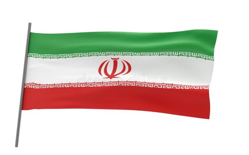 Σημαία του Ιράν διανυσματική απεικόνιση