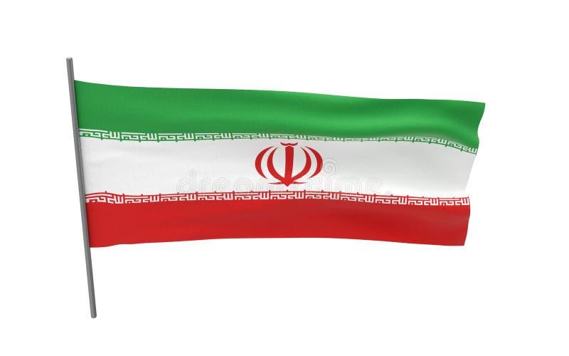 Σημαία του Ιράν απεικόνιση αποθεμάτων