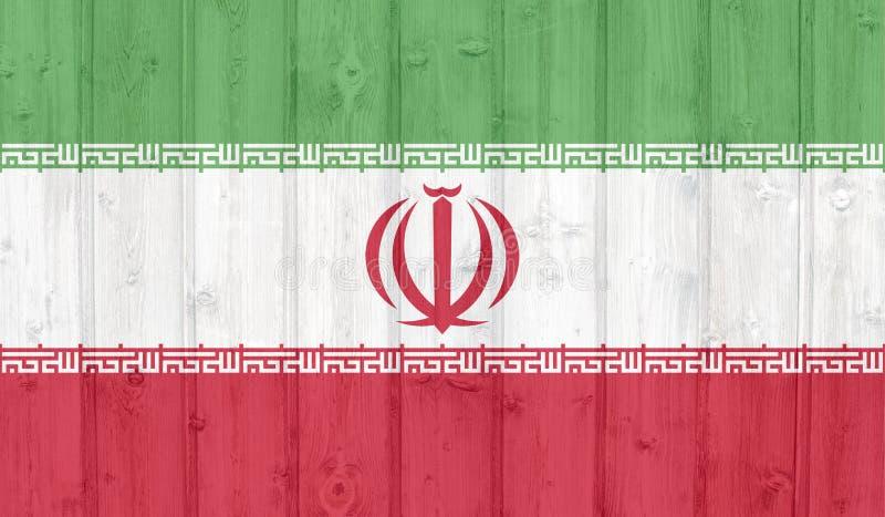 Σημαία του Ιράν Grunge διανυσματική απεικόνιση