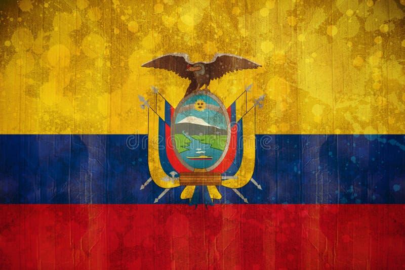 Σημαία του Ισημερινού στην επίδραση grunge ελεύθερη απεικόνιση δικαιώματος