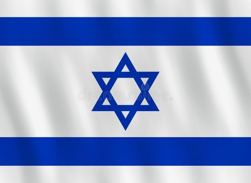 Σημαία του Ισραήλ με την επίδραση κυματισμού, επίσημη αναλογία απεικόνιση αποθεμάτων