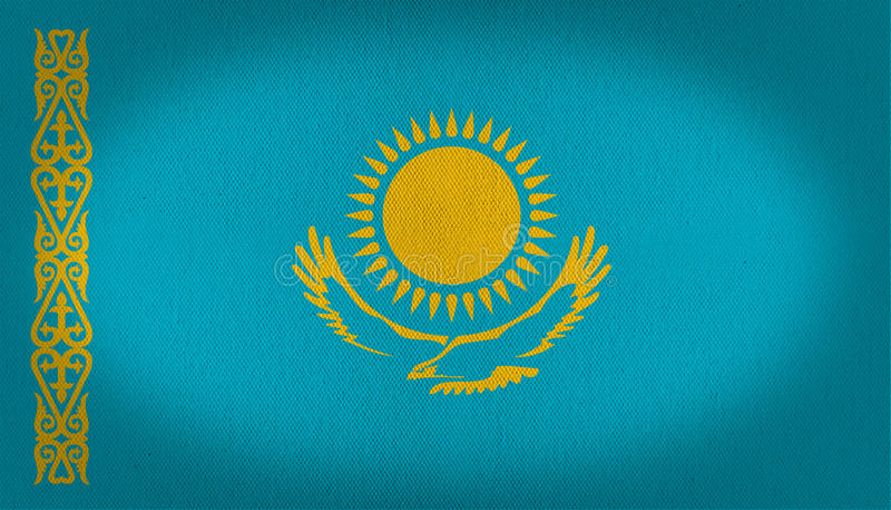 Σημαία του Καζακστάν απεικόνιση αποθεμάτων