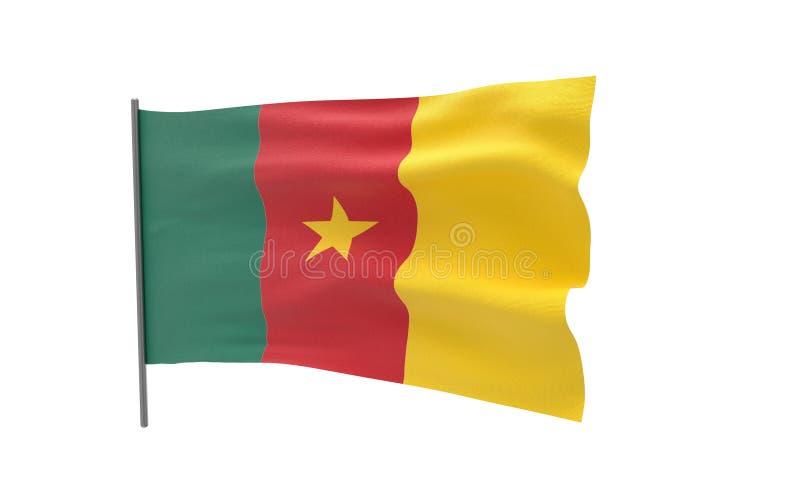 Σημαία του Καμερούν απεικόνιση αποθεμάτων