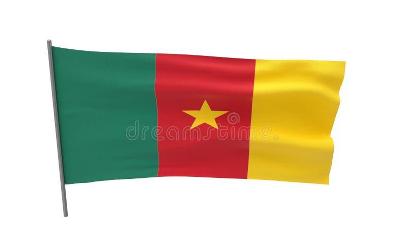 Σημαία του Καμερούν διανυσματική απεικόνιση