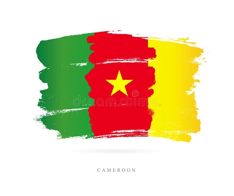 σημαία του Καμερούν Αφηρημένη έννοια ελεύθερη απεικόνιση δικαιώματος