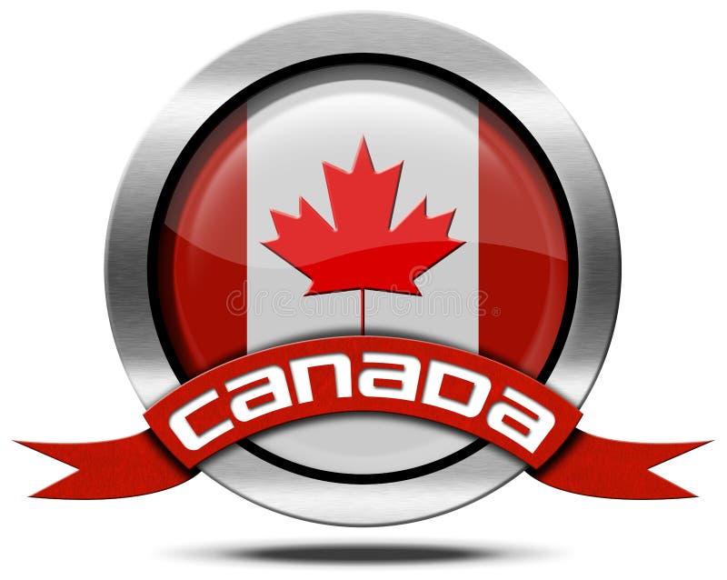 Σημαία του Καναδά - εικονίδιο μετάλλων διανυσματική απεικόνιση