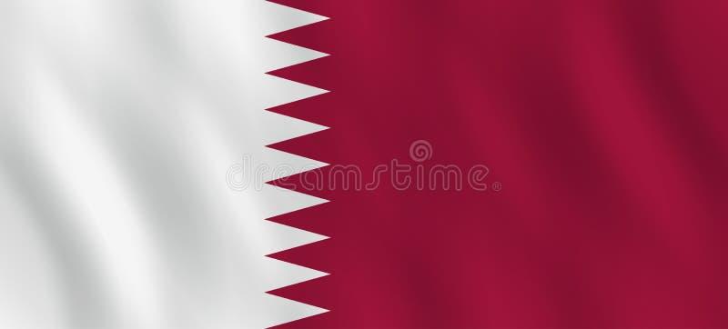 Σημαία του Κατάρ με την επίδραση κυματισμού, επίσημη αναλογία απεικόνιση αποθεμάτων