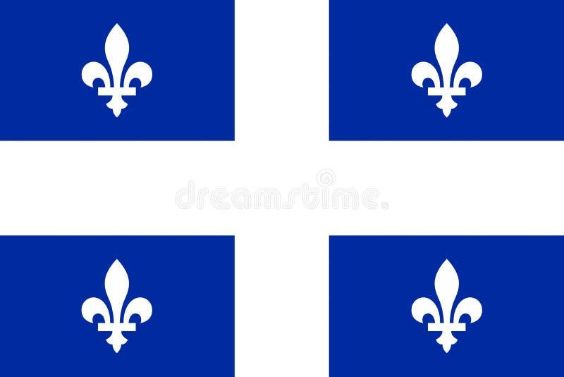 Σημαία του Κεμπέκ διανυσματική απεικόνιση