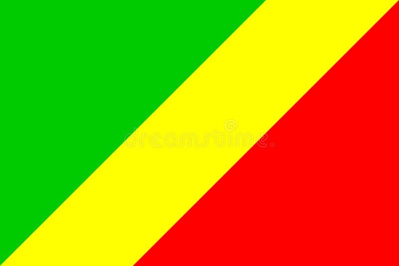 σημαία του Κογκό απεικόνιση αποθεμάτων