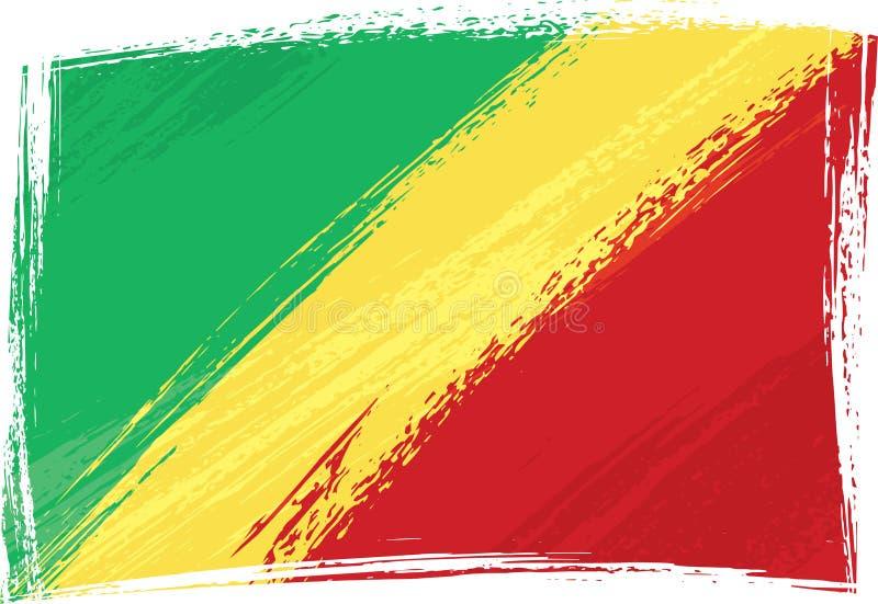 σημαία του Κογκό grunge απεικόνιση αποθεμάτων