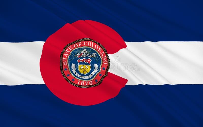 Σημαία του Κολοράντο, ΗΠΑ ελεύθερη απεικόνιση δικαιώματος