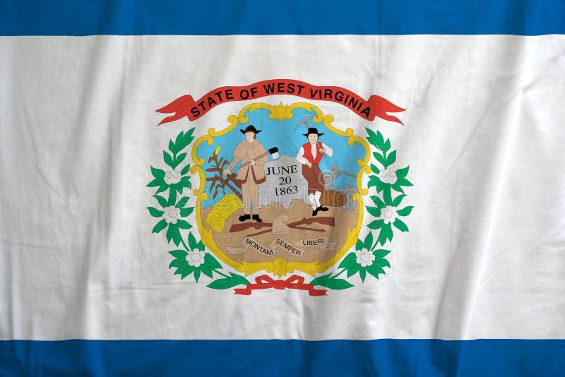 Σημαία του κράτους του κυματισμού της δυτικής Βιρτζίνια στοκ φωτογραφία με δικαίωμα ελεύθερης χρήσης