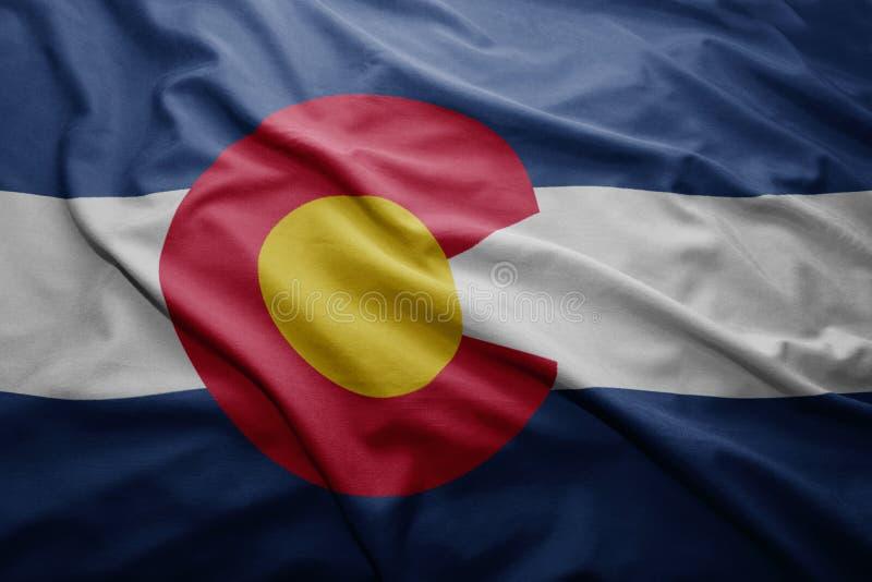Σημαία του κράτους του Κολοράντο στοκ εικόνες