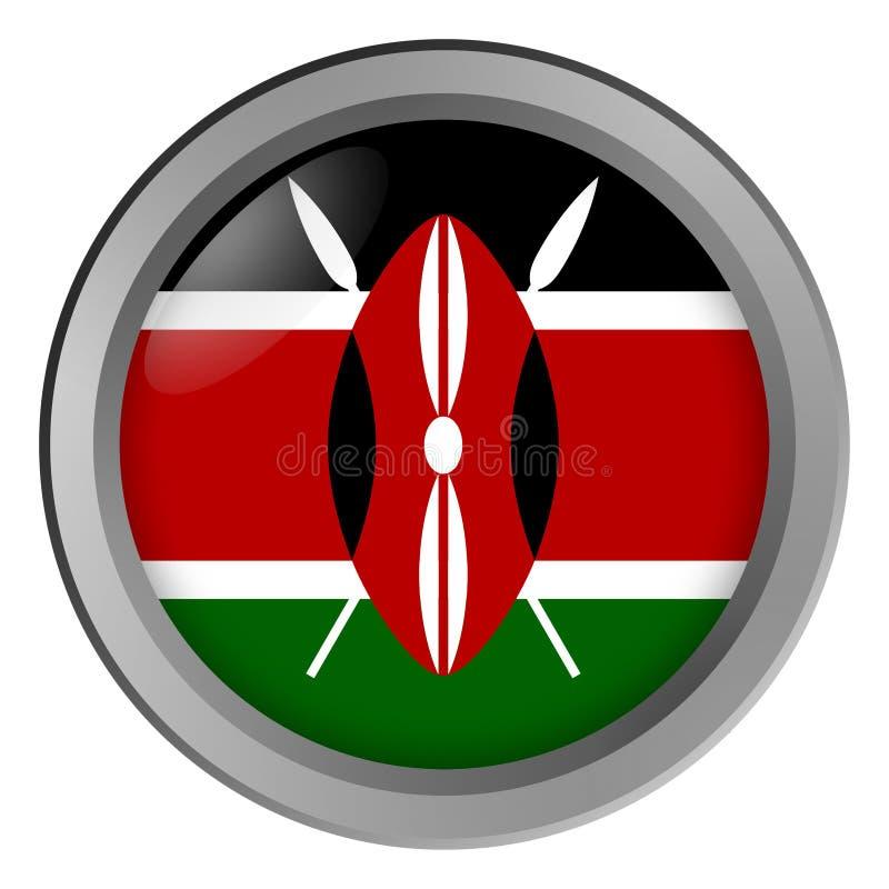 Σημαία του κύκλου της Κένυας ως κουμπί απεικόνιση αποθεμάτων