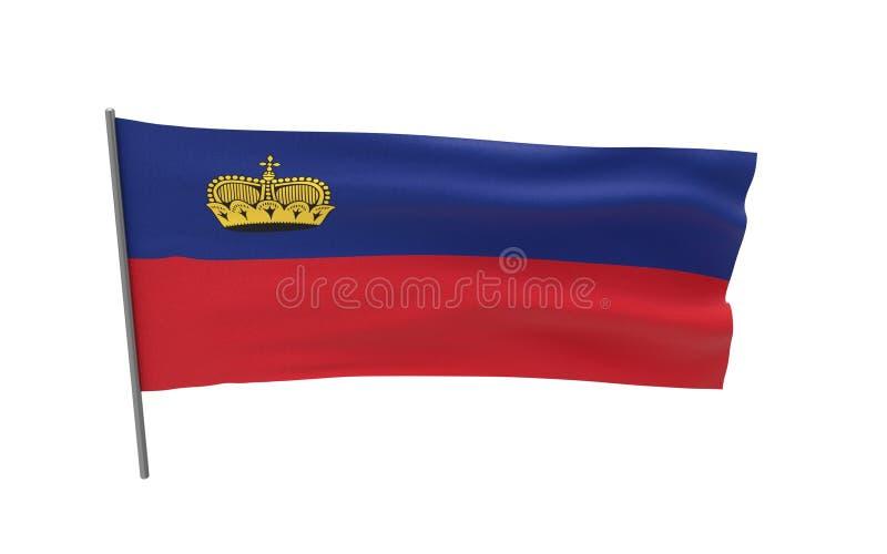 Σημαία του Λιχτενστάιν απεικόνιση αποθεμάτων