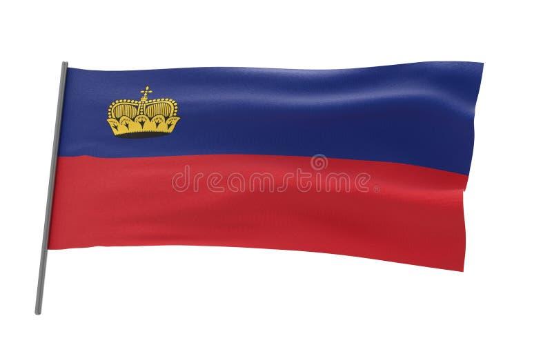Σημαία του Λιχτενστάιν ελεύθερη απεικόνιση δικαιώματος