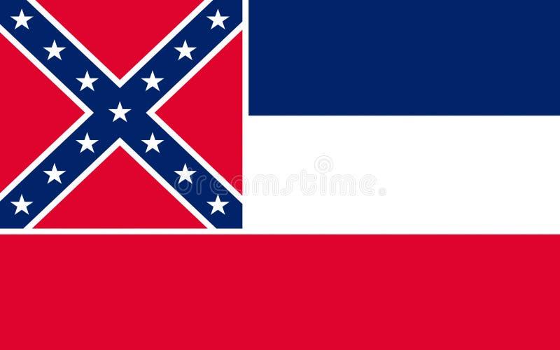 Σημαία του Μισισιπή, ΗΠΑ στοκ φωτογραφίες