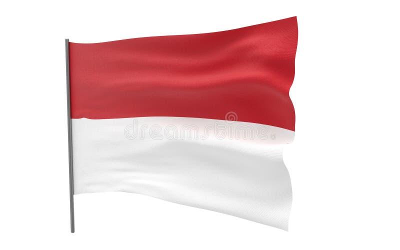 Σημαία του Μονακό ελεύθερη απεικόνιση δικαιώματος