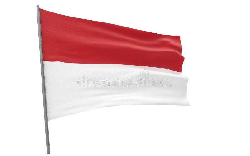 Σημαία του Μονακό απεικόνιση αποθεμάτων