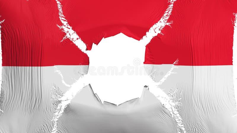 Σημαία του Μονακό με μια τρύπα απεικόνιση αποθεμάτων