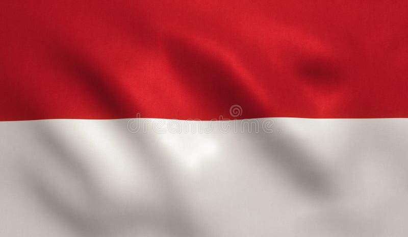 Σημαία του Μονακό διανυσματική απεικόνιση