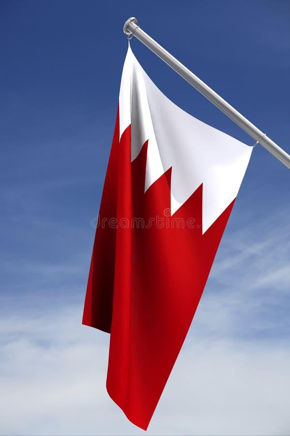σημαία του Μπαχρέιν εθνική στοκ φωτογραφία