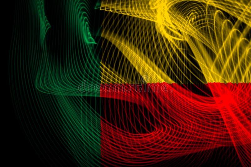σημαία του Μπενίν εθνική διανυσματική απεικόνιση