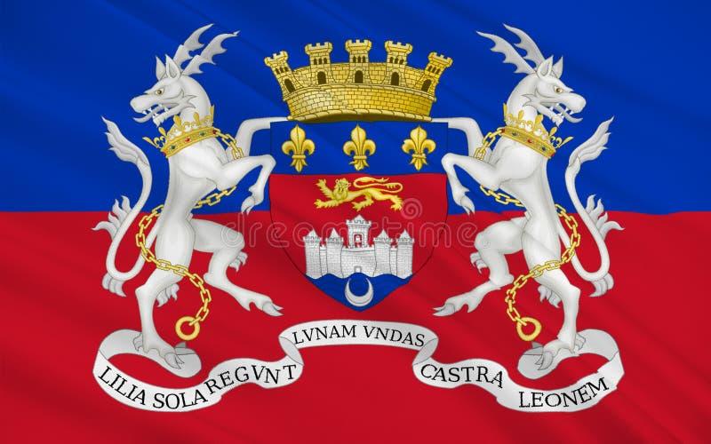 Σημαία του Μπορντώ, Γαλλία ελεύθερη απεικόνιση δικαιώματος