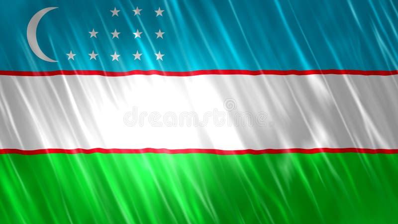 Σημαία του Ουζμπεκιστάν απεικόνιση αποθεμάτων