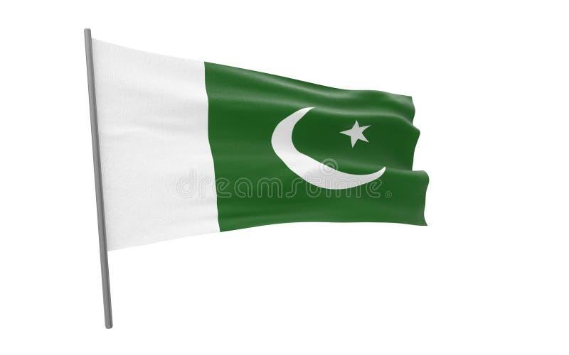 Σημαία του Πακιστάν απεικόνιση αποθεμάτων
