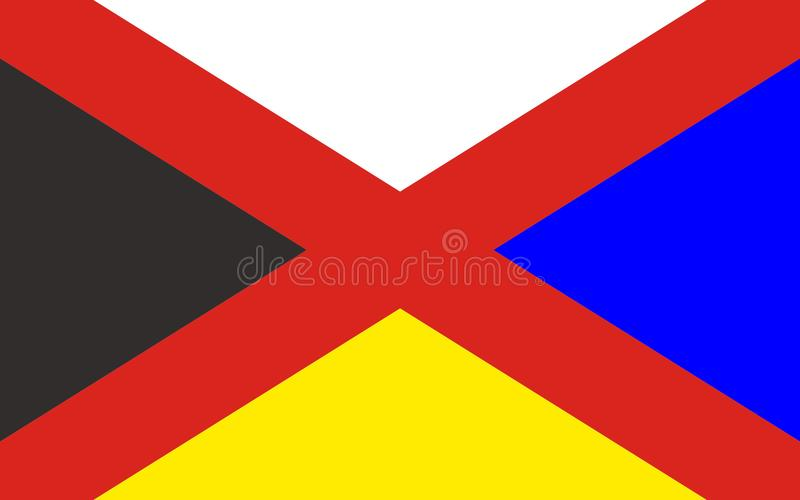 Σημαία του Πεκίνου στην Κίνα στοκ φωτογραφίες με δικαίωμα ελεύθερης χρήσης