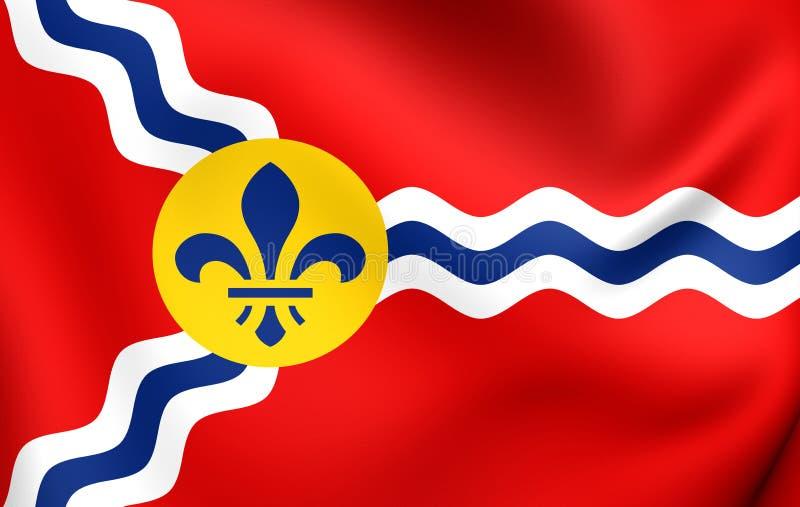 Σημαία του Σαιντ Λούις, ΗΠΑ διανυσματική απεικόνιση
