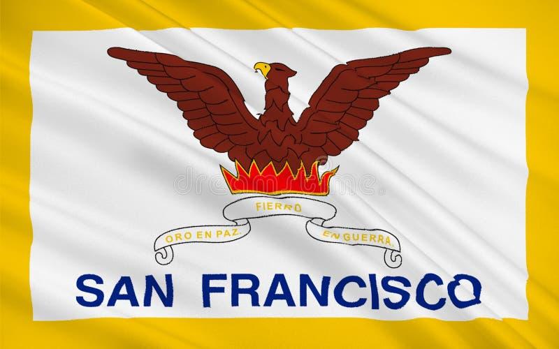 Σημαία του Σαν Φρανσίσκο, Καλιφόρνια, ΗΠΑ ελεύθερη απεικόνιση δικαιώματος