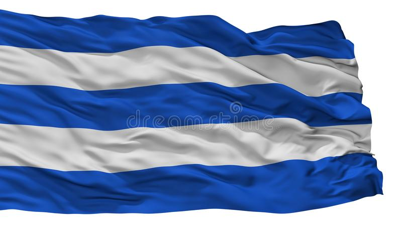 Σημαία του Σαν Φρανσίσκο de Sales City, Κολομβία, τμήμα Cundinamarca, που απομονώνεται στο άσπρο υπόβαθρο διανυσματική απεικόνιση
