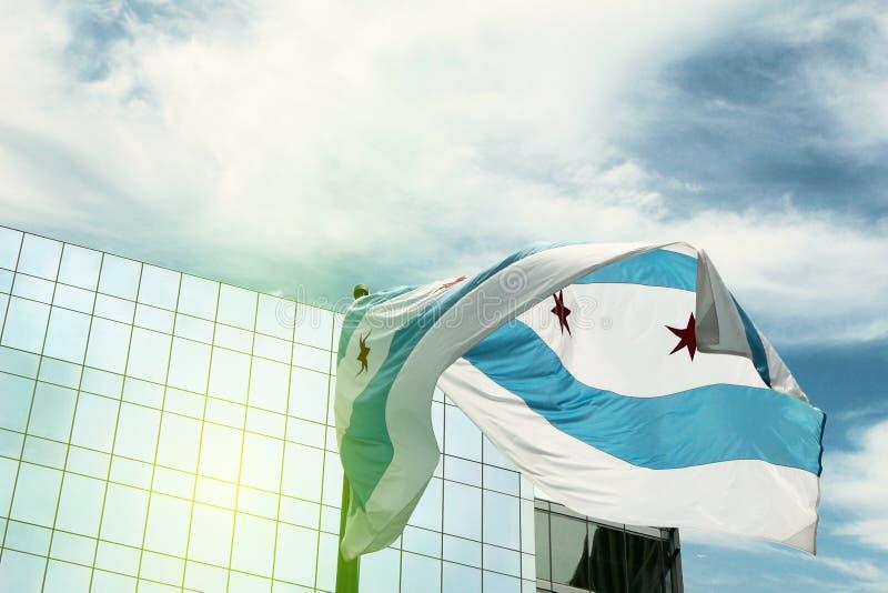 σημαία του Σικάγου στοκ εικόνες