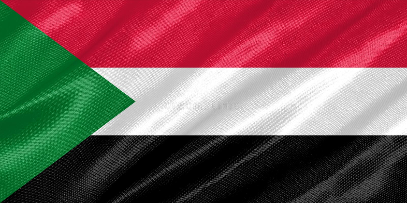 Σημαία του Σουδάν στοκ φωτογραφίες