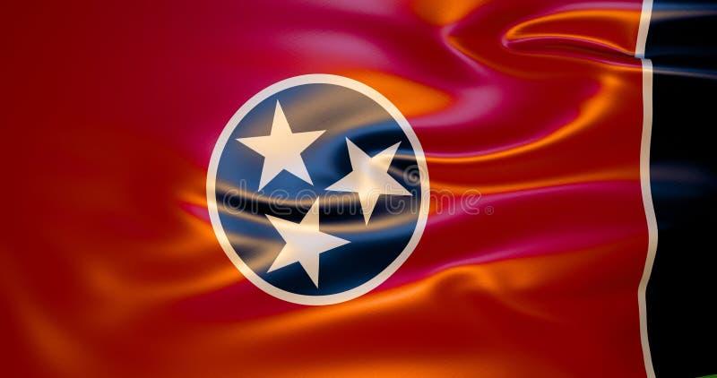 Σημαία του Τένεσι στον αέρα διανυσματική απεικόνιση