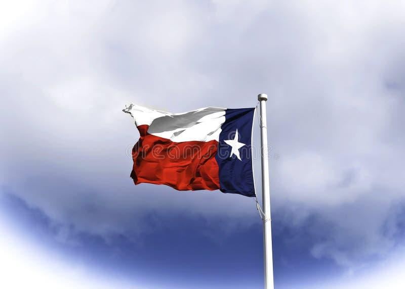 Σημαία του Τέξας που φυσά στον αέρα στοκ φωτογραφία με δικαίωμα ελεύθερης χρήσης