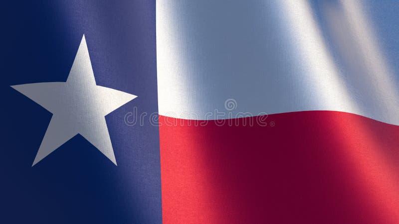 Σημαία του Τέξας τρισδιάστατη απεικόνιση της κυματίζοντας σημαίας του Τέξας διανυσματική απεικόνιση